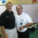 Kiwanis President Joe Kessel and Vice Mayor Bill Julian