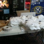 Shirts and raffle tickets
