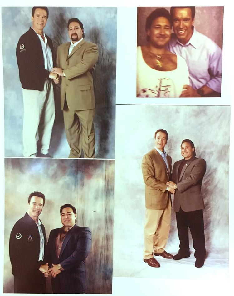 Joseph Amunategui & Arnold Schwarzenegger