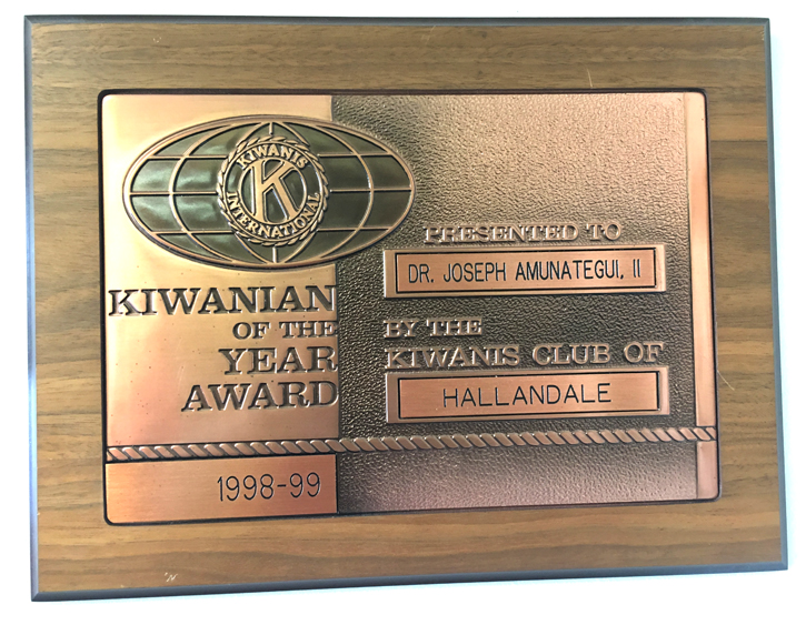 Kiwanian of the Year Award - 1998-99