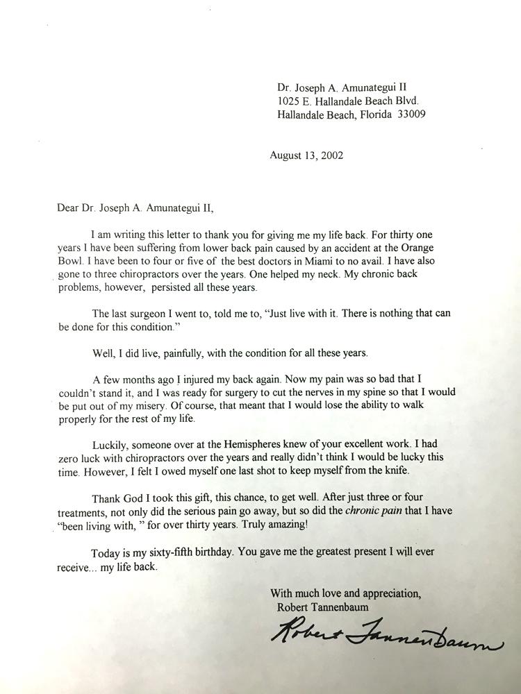 Robert Tannenbaum - August 13, 2002