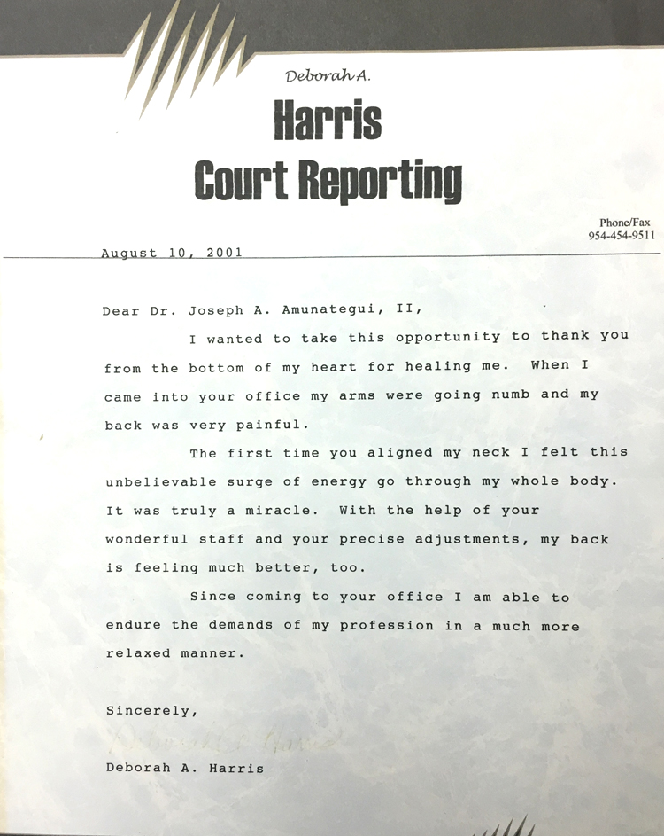 Deborah A. Harris - Harris Court Reporting - August 10, 2001