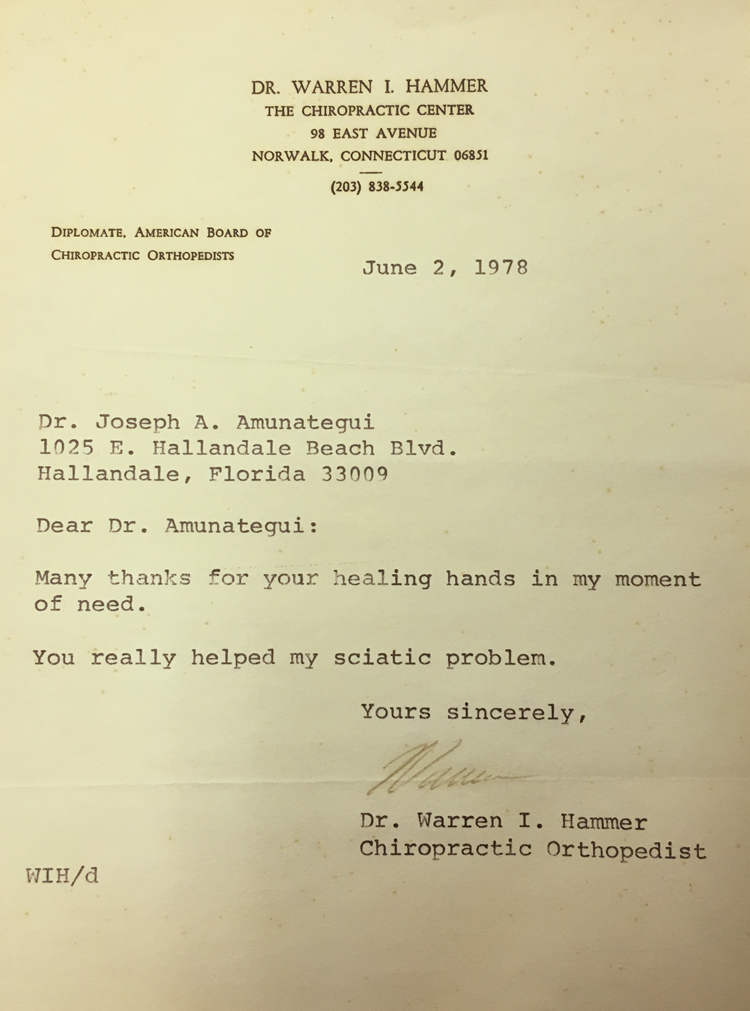 Dr. Warren I. Hammer - June 2, 1978