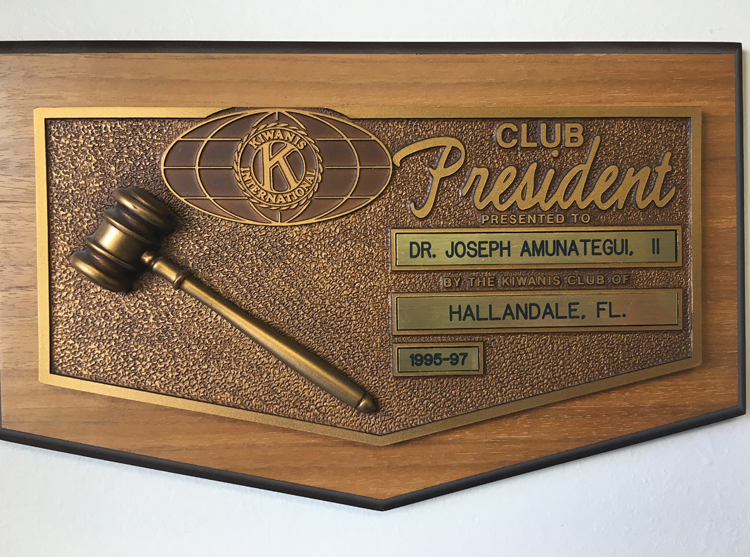 Kiwanis Club President, 1995-97