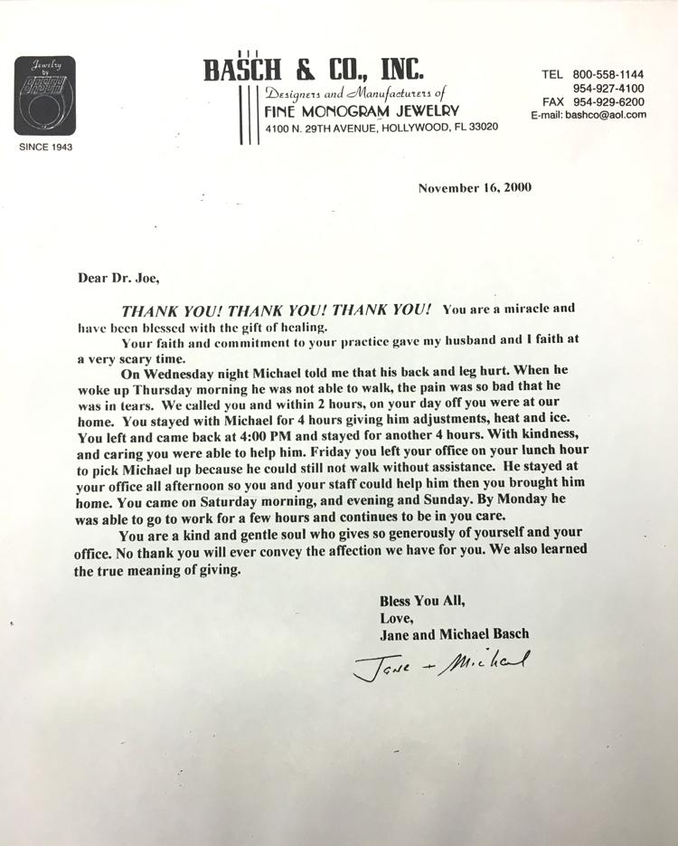 Basch & Co., Inc. - November 16, 2000
