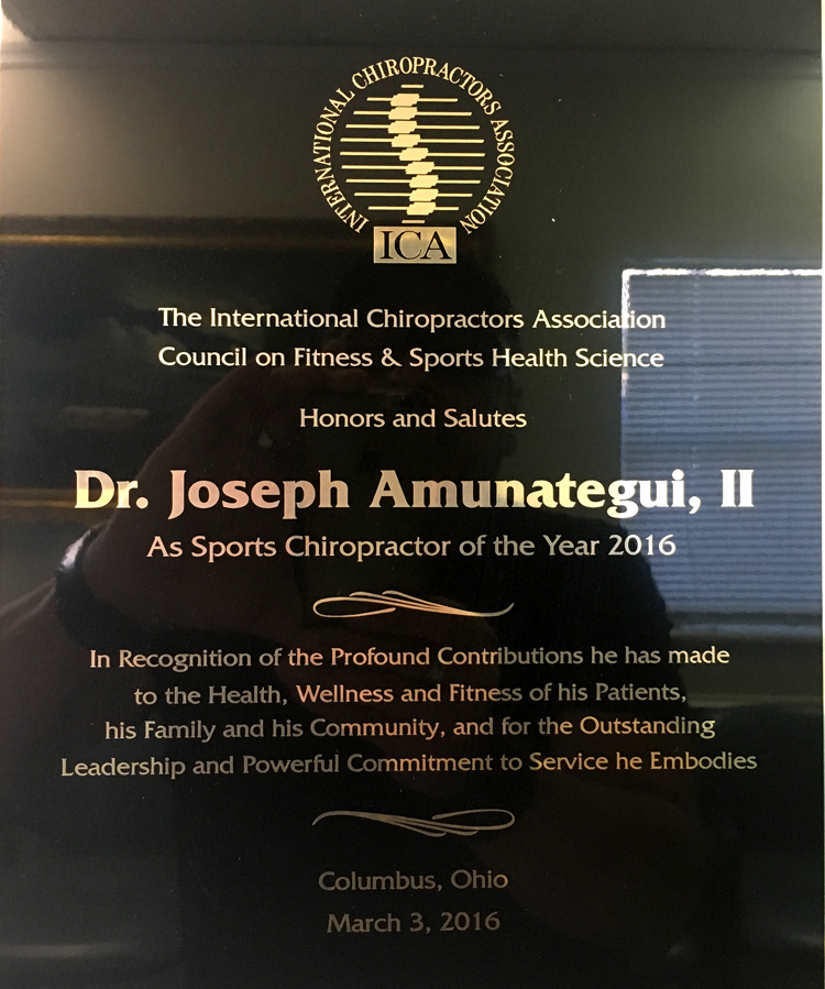 International Chiropractor's Association Council on Fitness & Sports Health Science - 2016